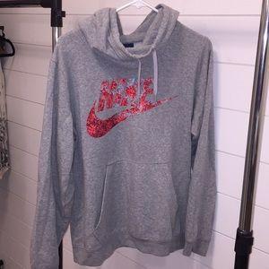 Floral Nike Hoodie Sweatshirt Women's XL